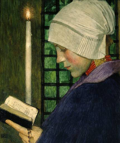 """Candlemas Day"" by Marianne Stokes"