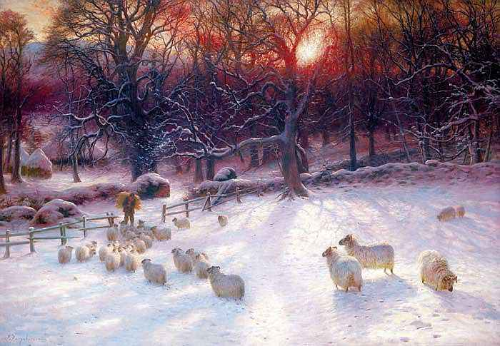"""The shortening winter's day is near a close"" by Joseph Farquharson"