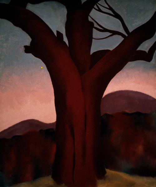 """Autumn Trees - Chestnut Tree"" Georgia O'Keeffe (1887-1986) American Artist"