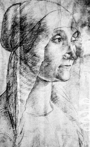 """Elderly Woman"" by Domenico Ghirlandaio (1449-1494) Italian Early Renaissance Painter"