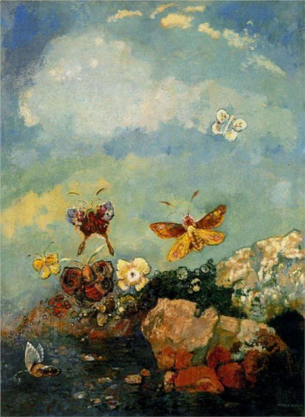 """Butterflies"" by Odilon Redon (1840-1916) French Symbolist Painter & Printmaker"