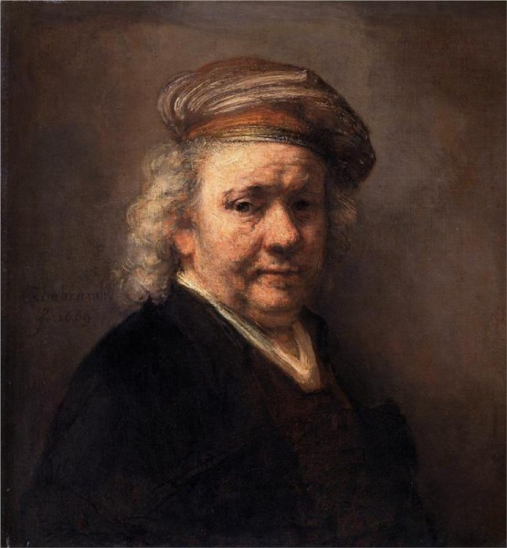 """Self-Portrait, 1669"" by Rembrandt (1606-1669) Dutch Painter & Etcher"