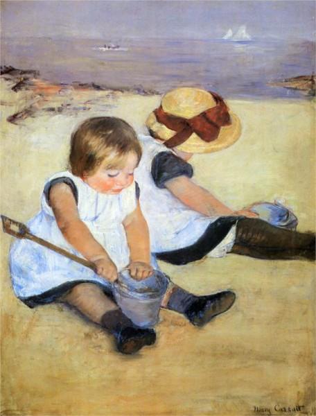 mary.cassatt.childrenplayingbeach