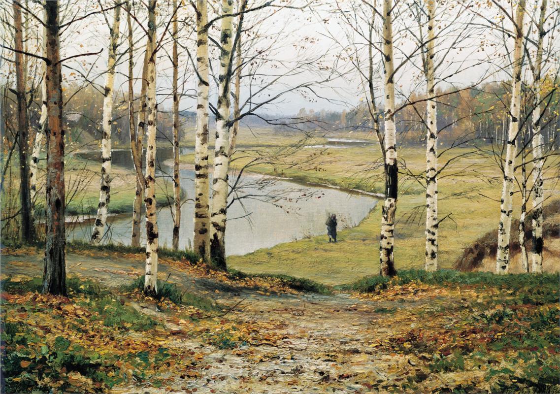 """October"" by Efim Volkov (1844-1920) Russian Realism Painter"
